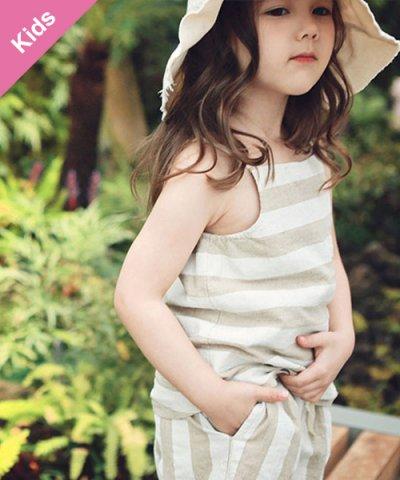 Children -Baby&Kids- / BienaBien ボーダーキャミソール:ベージュ