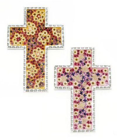 IMPORT / FLOWER CROSS 15×21