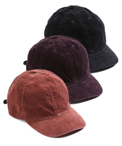 ANACHRONORM / CORDUROY LEATHER BUCKLE CAP