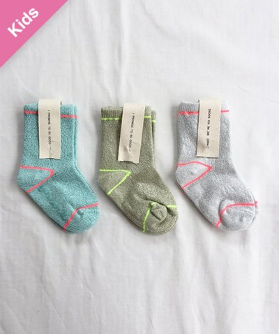 Children -Baby&Kids- / YOI SOCKS SET:ブルー / グリーン / シルバー