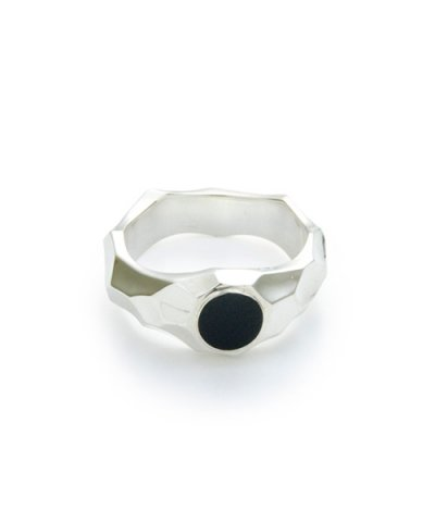GARNI / Jaggy Onyx Ring - S