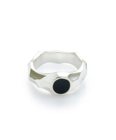 GARNI / Jaggy Onyx Ring - S