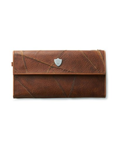 GARNI / Insection Flap Long Wallet: Brown