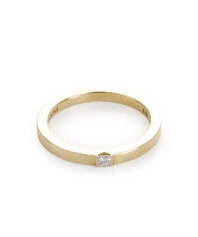 GARNI / K10 Square Dia Ring:K10YG