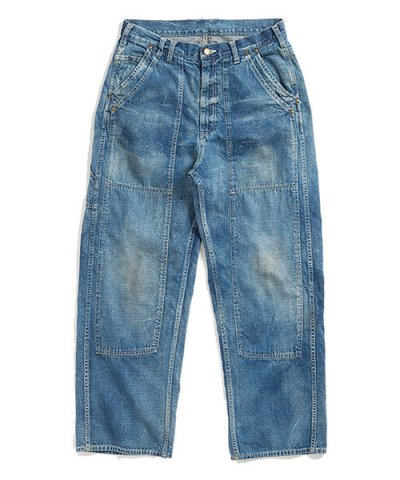 ANACHRONORM / WASHED DENIM PAINTER PANTS