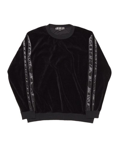 BAL / TAPED VELOUR CREWNECK