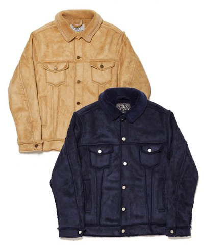 BAL / FAUX SHEARING TRUCKER JACKET