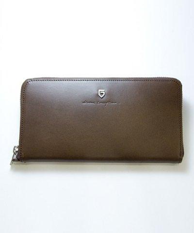 GARNI / '15 Sign Zip Long Wallet:BROWN