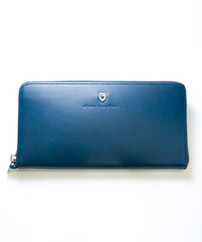 GARNI / '15 Sign Zip Long Wallet:NAVY