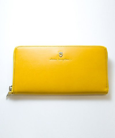GARNI / '15 Sign Zip Long Wallet:YELLOW