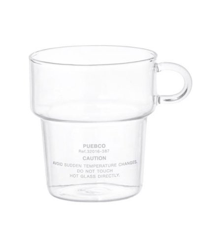 PUEBCO / BOROSILICATE GLASS MUG Deep Stacking