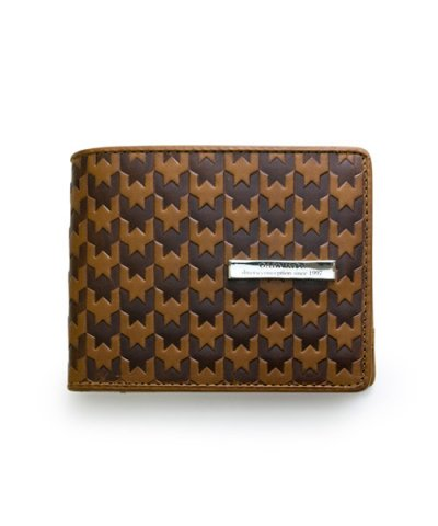 GARNI / Hound Tooth Fold Wallet:Brown
