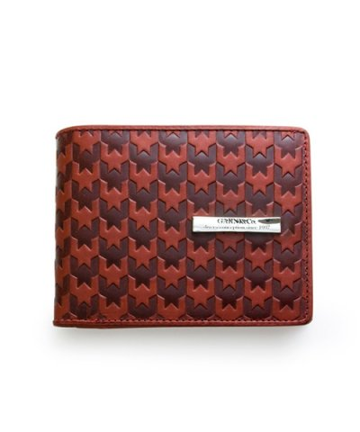 GARNI / Hound Tooth Fold Wallet:Red