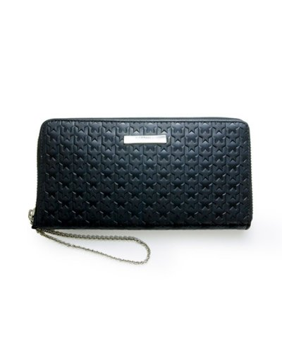 GARNI / Hound Tooth Zip Long Wallet:Black