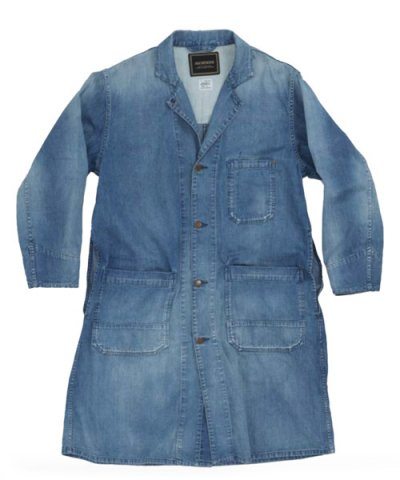 ANACHRONORM / 8oz DENIM SHOP COAT:AGING WASH