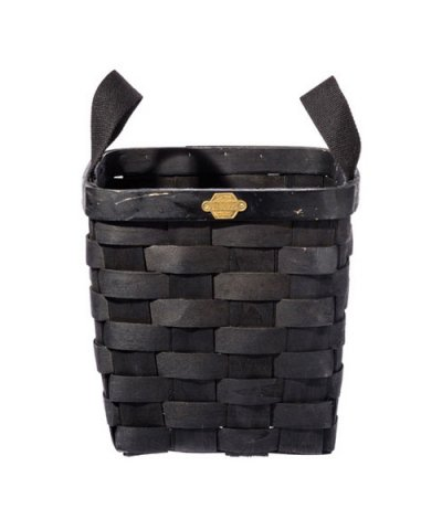 PUEBCO / WOODEN BASKET BLACK Square