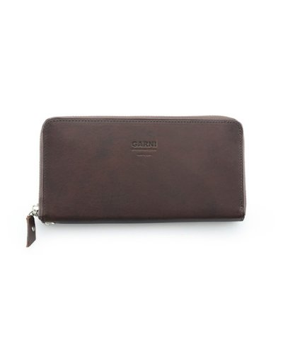 GARNI / Eyelet Zip Long Wallet:Brown