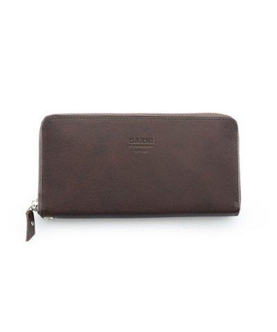 GARNI / Eyelet Zip Long Wallet:Brown