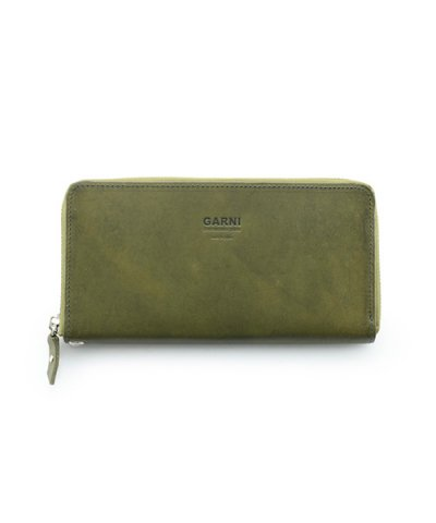 GARNI / Eyelet Zip Long Wallet:Green