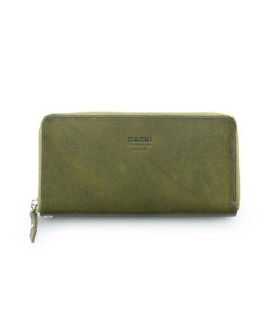 GARNI / Eyelet Zip Long Wallet:Green