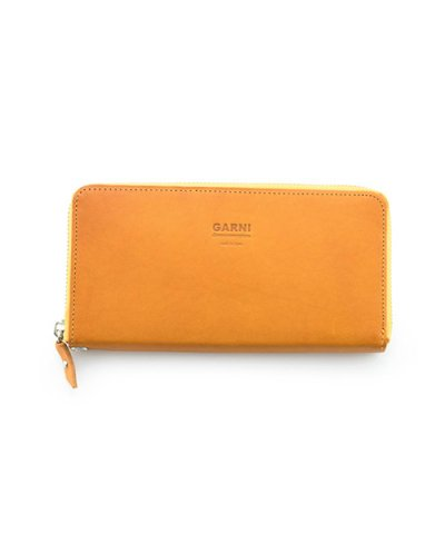 GARNI / Eyelet Zip Long Wallet:Yellow