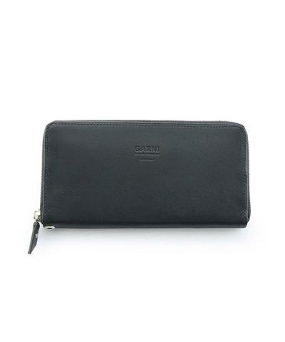 GARNI / Eyelet Zip Long Wallet:Black