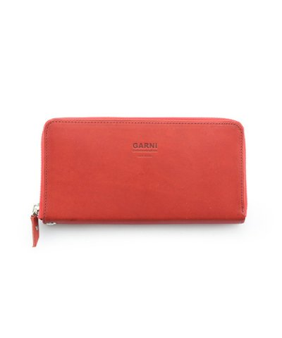 GARNI / Eyelet Zip Long Wallet:Red