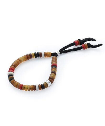 GARNI / Horn Beads Bracelet:Brown