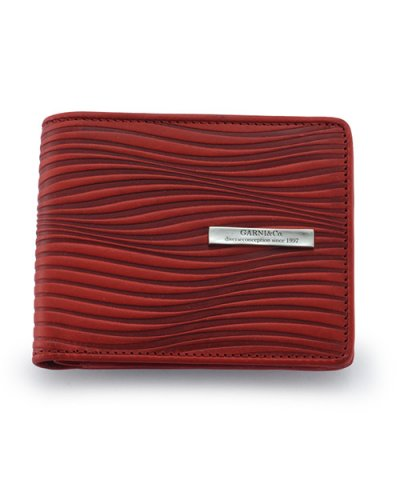 GARNI / Piled Fold Wallet:RED