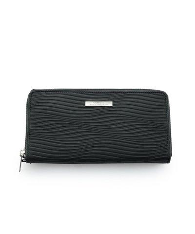 GARNI / Piled Zip Long Wallet:BLACK