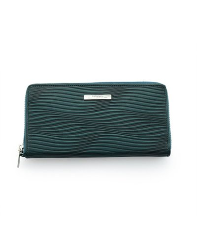 GARNI / Piled Zip Long Wallet:BLUE