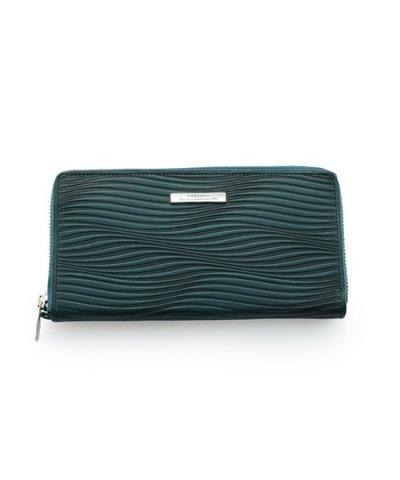 GARNI / Piled Zip Long Wallet:BLUE