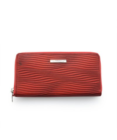 GARNI / Piled Zip Long Wallet:RED