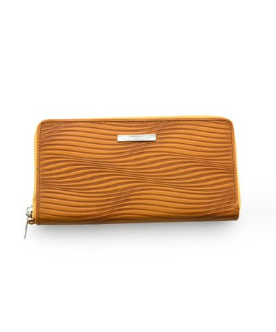 GARNI / Piled Zip Long Wallet:YELLOW