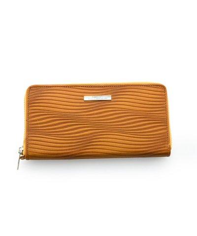 GARNI / Piled Zip Long Wallet:YELLOW