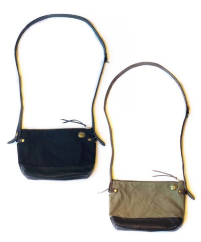 THE SUPERIOR LABOR / Leather bottom shoulder bag S