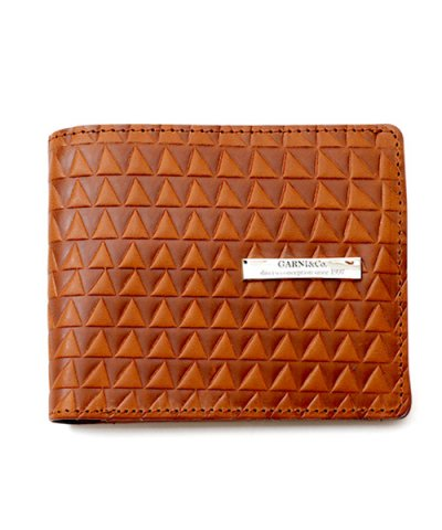 GARNI / Triangle Chip Fold Wallet:BROWN