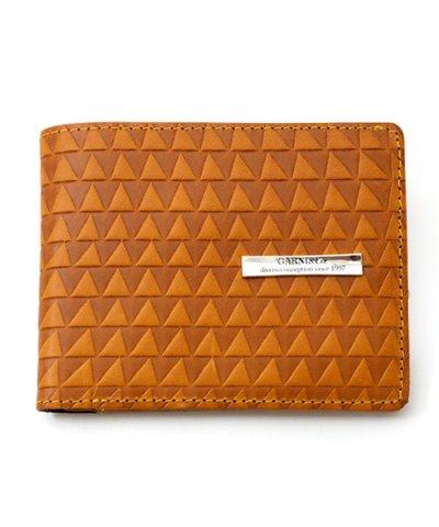 GARNI / Triangle Chip Fold Wallet:YELLOW