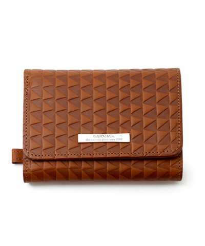 GARNI / Triangle Chip Three Fold Wallet:BROWN