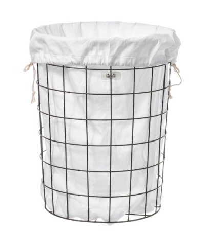 PUEBCO / WIRE BASKET W PLAIN LAUNDRY BAG Large