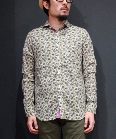 Niche / Cinta wide collar print shirts