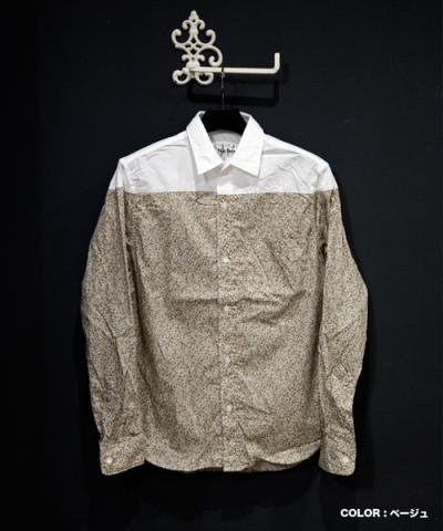 Niche / Pareja Regular Collar Shirts - Flower