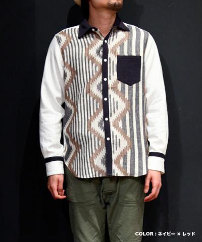EOTOTO / WAVING BORDER PANEL SHIRTS