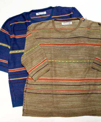 EOTOTO / NATIVE BORDER LINEN KNIT