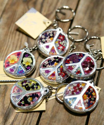 OJO DE MEX / Glory Flor Peace Key Ring