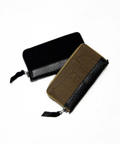 GARNI×SIVA / Patch Hedron Zip Long Wallet