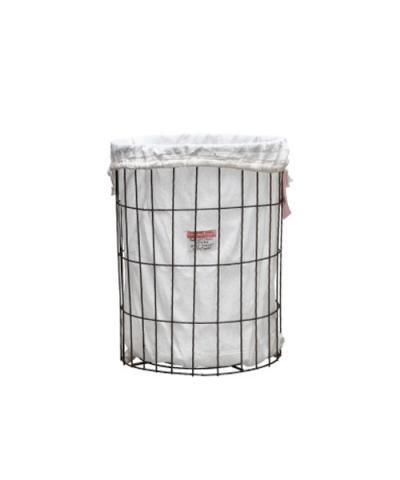 PUEBCO / WIRE BASKET WITH LAUNDRY BAG Round