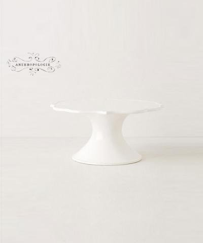 ANTHROPOLOGIE / Lotus Cake Stand WHITE CAKE STAND
