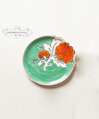 ANTHROPOLOGIE / Corsage Dessert Plate MULTI DST PLATE