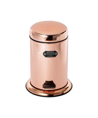 PUEBCO / COPPER PLATING TRASHCAN